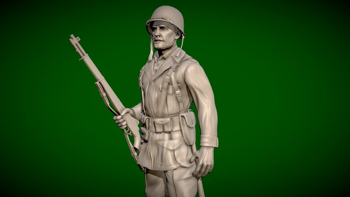 US Soldier WW2 - 3d Printable - Free 3D Model
