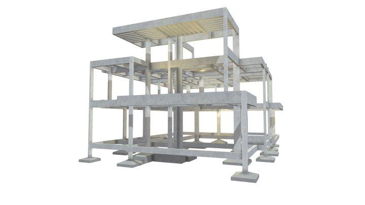 Projeto Estrutural Residencial 01 3D Model
