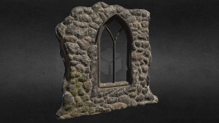 Broken Wall And Window Portfolio5 3D Model