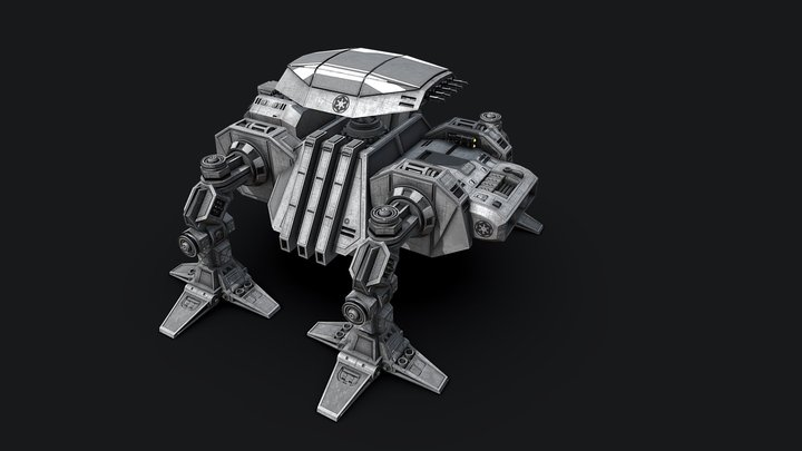 AT-AA  All-Terrain-Anti-Aircraft Walker 3D Model