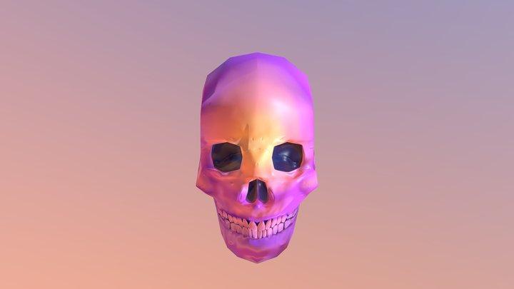 Low poly skull 3D Model