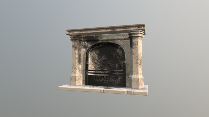 Haunted Mansion - Fireplace 3D Model