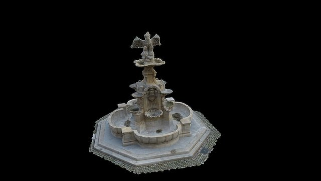 Pomnik Orła Białego Szczecin high 3D Model