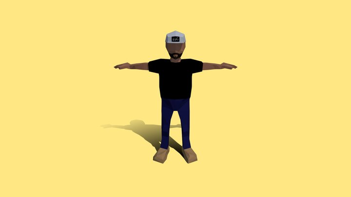 Low-Poly Mike 3D Model