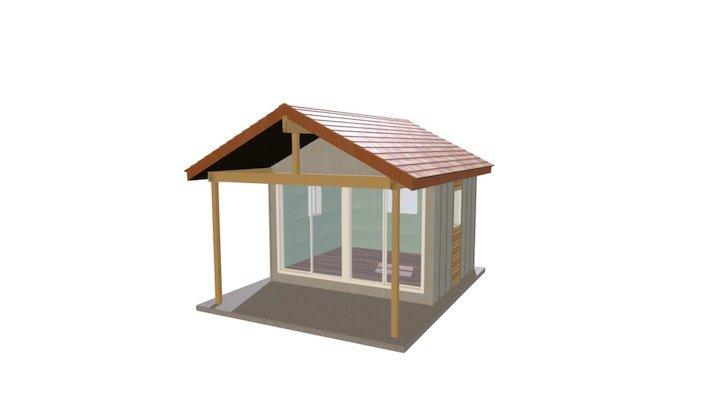 10x12 Cabin 3D Model