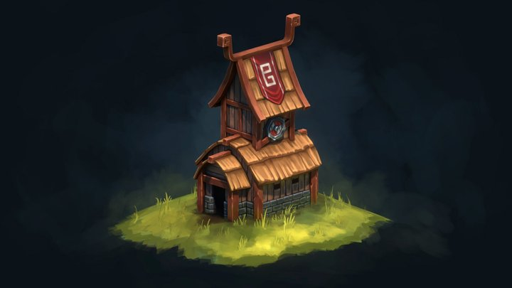Viking House 3D Model