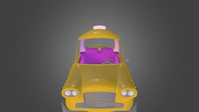 Taxi Sketch Fab 3D Model
