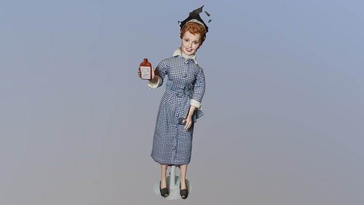 I Love Lucy Doll 3D Model