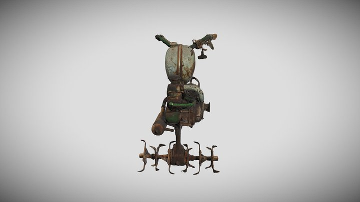 Rotary cultivator 3D Model