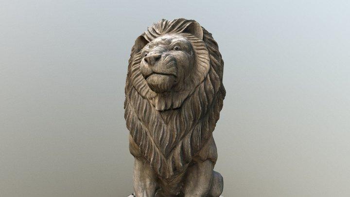 Wooden Lion 2019.2 [Low Poly] 3D Model