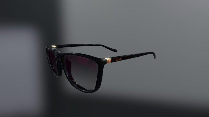 Low-Poly 3D Glasses 3D Model