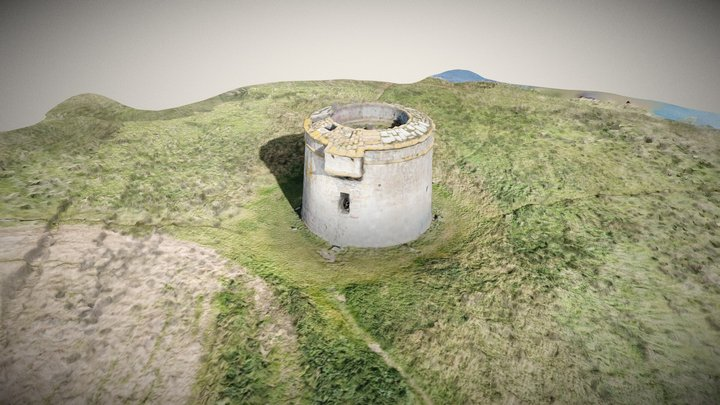 Drumanagh Martello Tower 3D Model