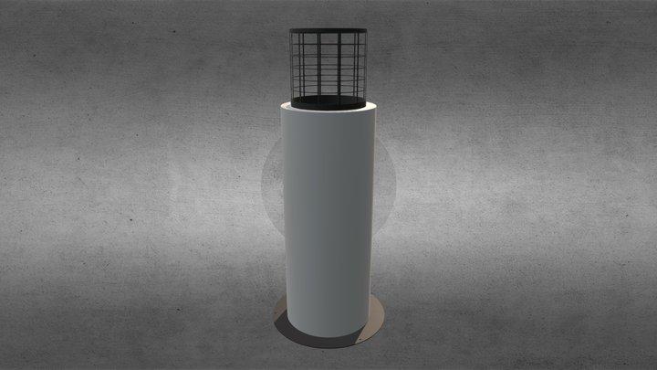 Faro Commerce - Portable Ethanol Fireplace 3D Model