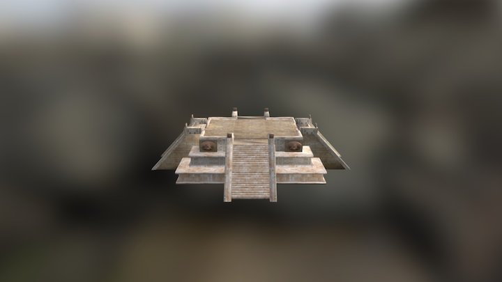 Mayan Temple or Stage 3D Model