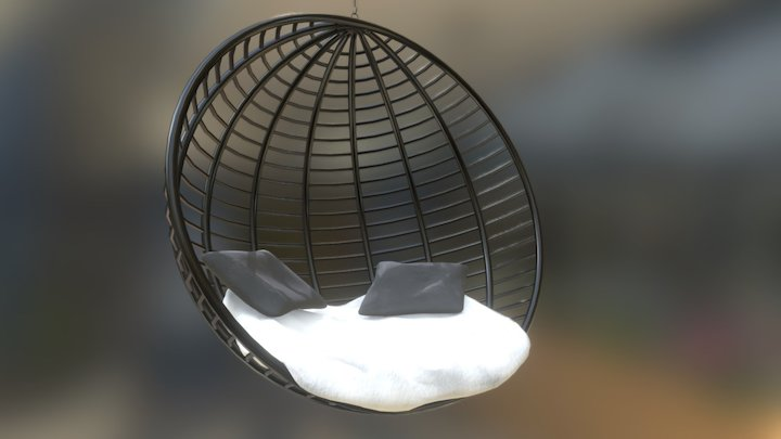 Suspended armchair 3D Model