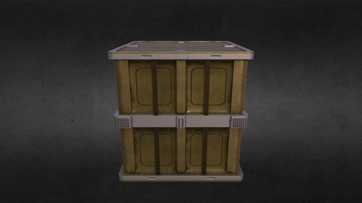 Giant UNSC Crate (OLD) 3D Model