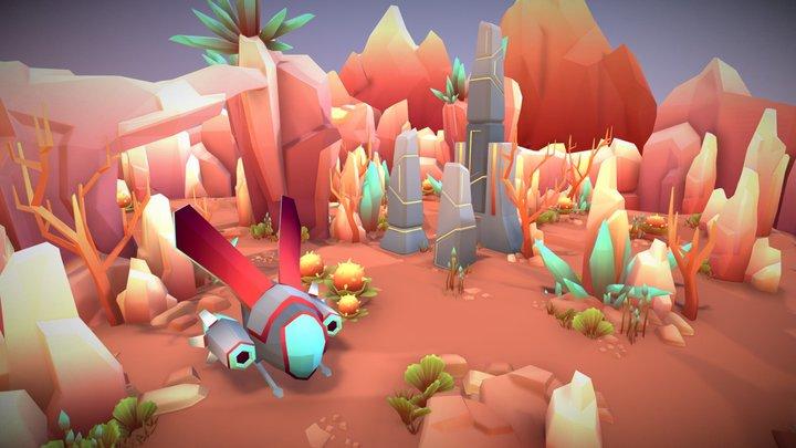 Alien_Desert_Planet 3D Model