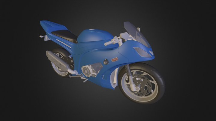 Motorcycle Modeling Course Result 3D Model