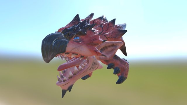 Rathalos Head 3D Model