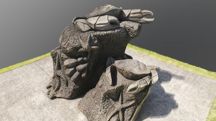 Crab Statue 3D Model