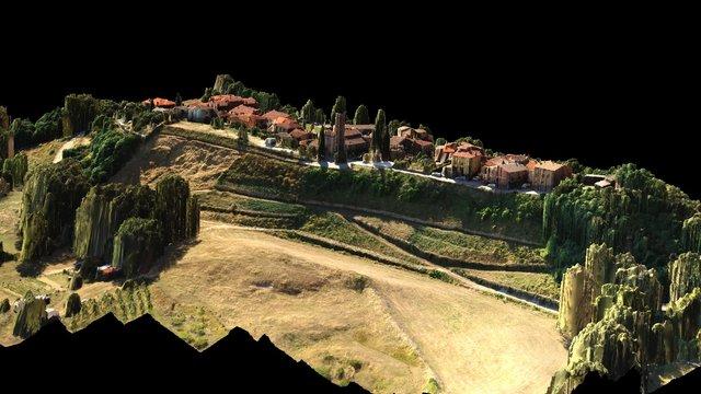 Rilievo drone frana Ricasoli, Montevarchi 3D Model