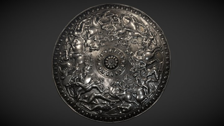 The Parade Shield of King Erik XIV of Sweden 3D Model