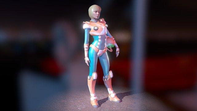Lia, the space cop girl 2 3D Model