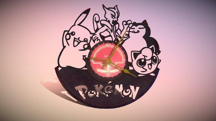 Clock Vinyl Pokemon 3D Model
