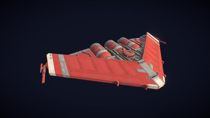 Bloodhawk starship 3D Model