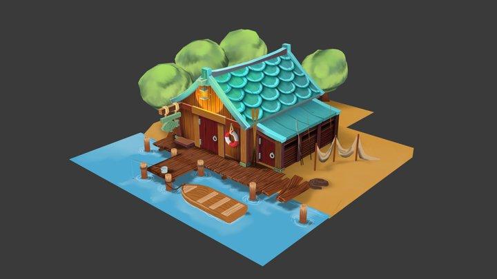 Team Assessment Fish House 3D Model