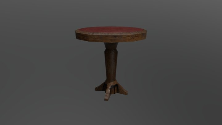 Leather top - Table 3D Model