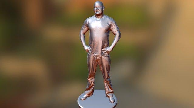 Man Captain America Shirt 3D Model