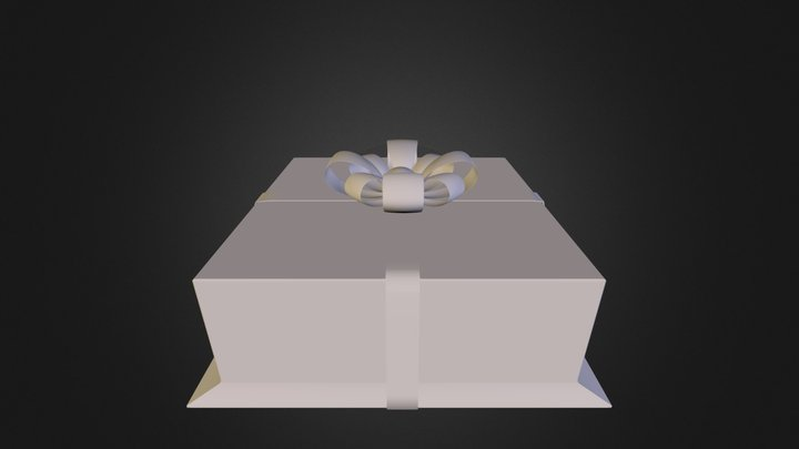 korobka_tort.obj 3D Model