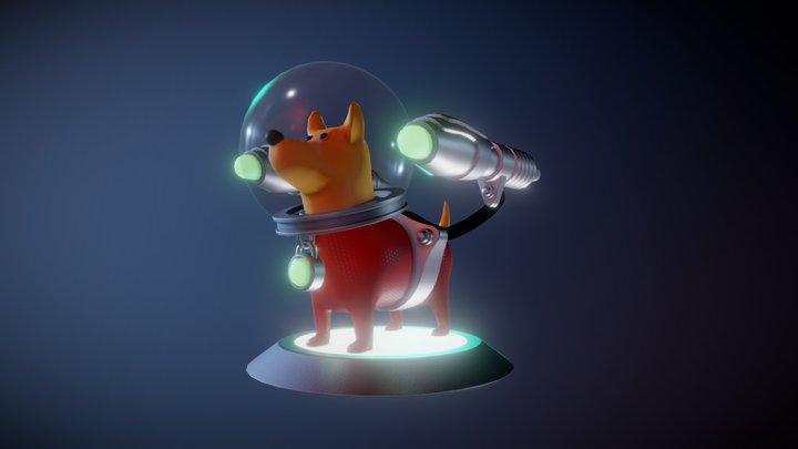 Space Doggo 3D Model