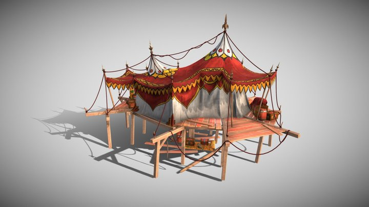 Chinese tent (gift) 3D Model