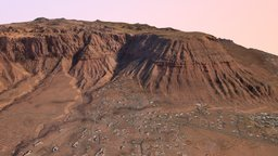The Red Mountain 3D Model