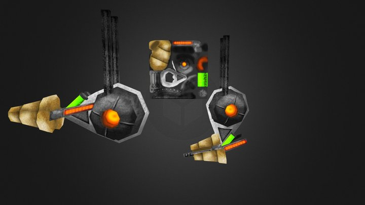 Rayon poulpe 3D Model