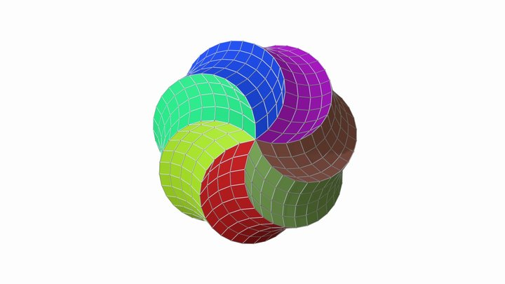 Rhombic Spirallohedron 28 step 4 3D Model