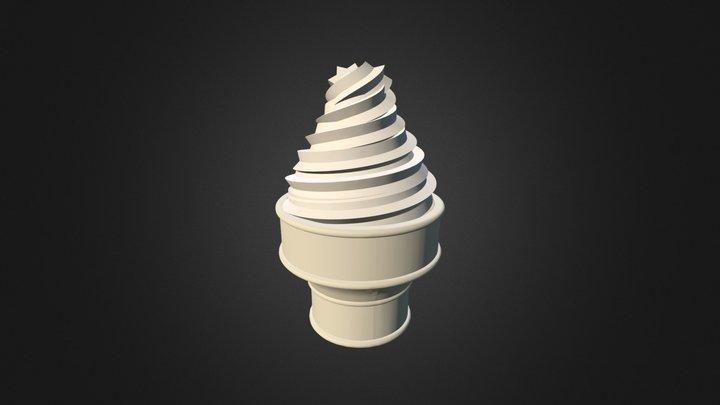 Ice Cream Cone Material Test 3D Model