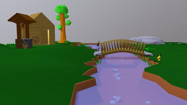 BlenderTennis #1 : 7-erikwoods : butterfly 3D Model