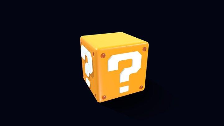 Mario Question Block 3D Model