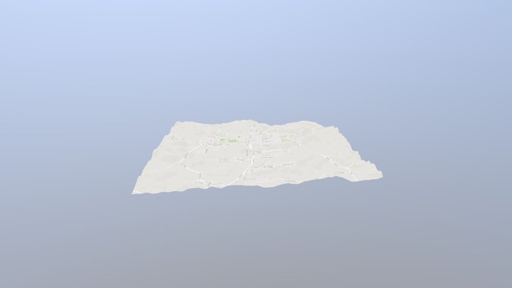 Terrain stamp roads only 3D Model