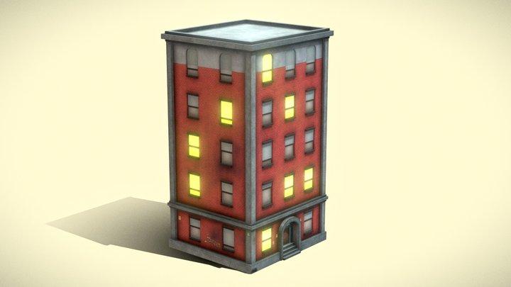 Stilized Building 3D Model