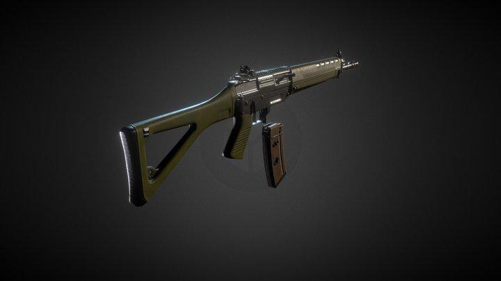 Sig 550 3D Model