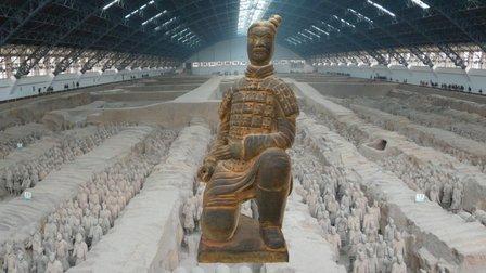 Arquero de terracota, Mausoleo de Quin Shi Huang 3D Model