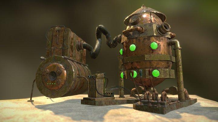 [Animation] Steampunk Brutal Machine 3D Model