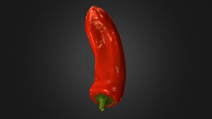Red Pepper 3D Scan - Artec Spider 3D Model