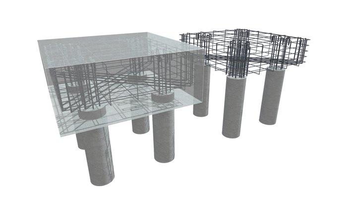 Bloco com Estacas Tracionadas 3D Model