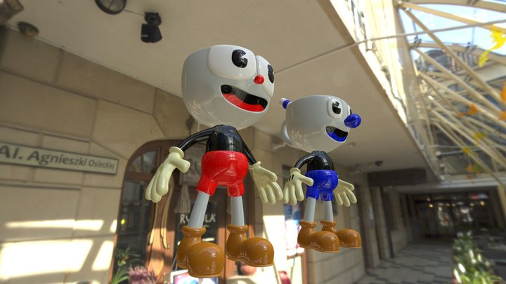 Cuphead & Mugman 3D Model