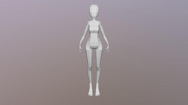 Low Poly Female 3D Model